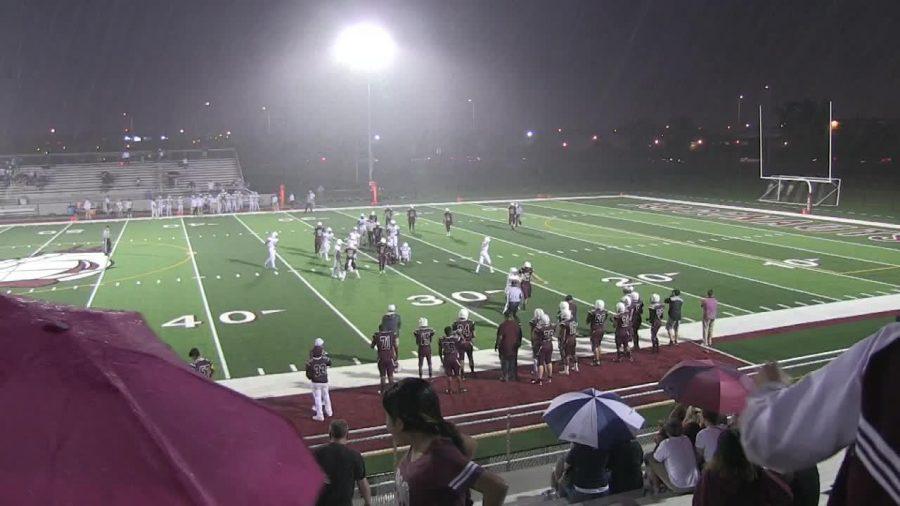 Postponed Varsity Football Game to Resume Play on Sunday
