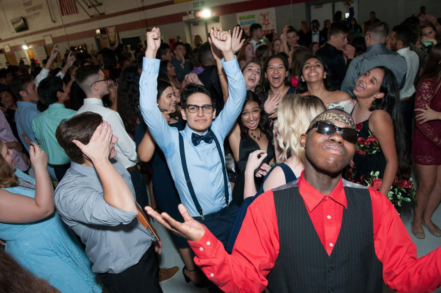 Students enjoy their own unique styles at the 2017 Homecoming Dance.