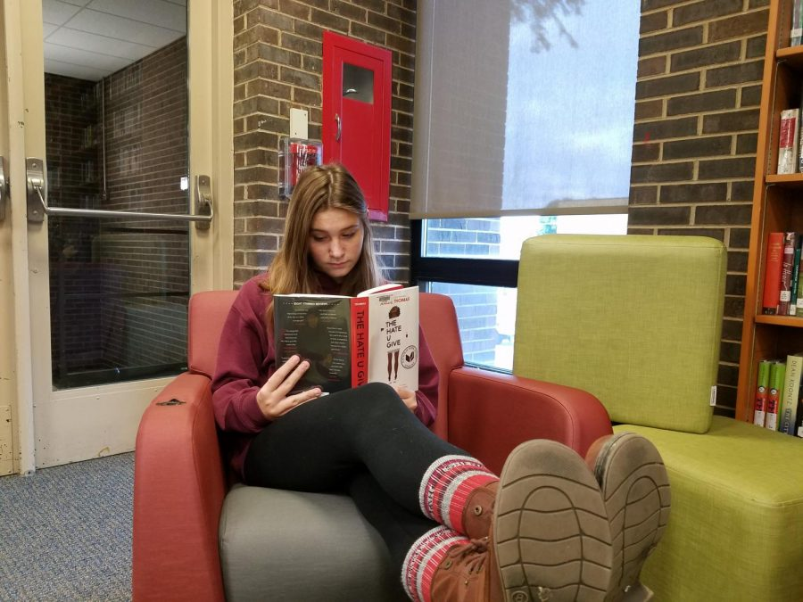 Argo student, Emily Broniewicz, catches up on The Hate U Give to prepare for the movies release.