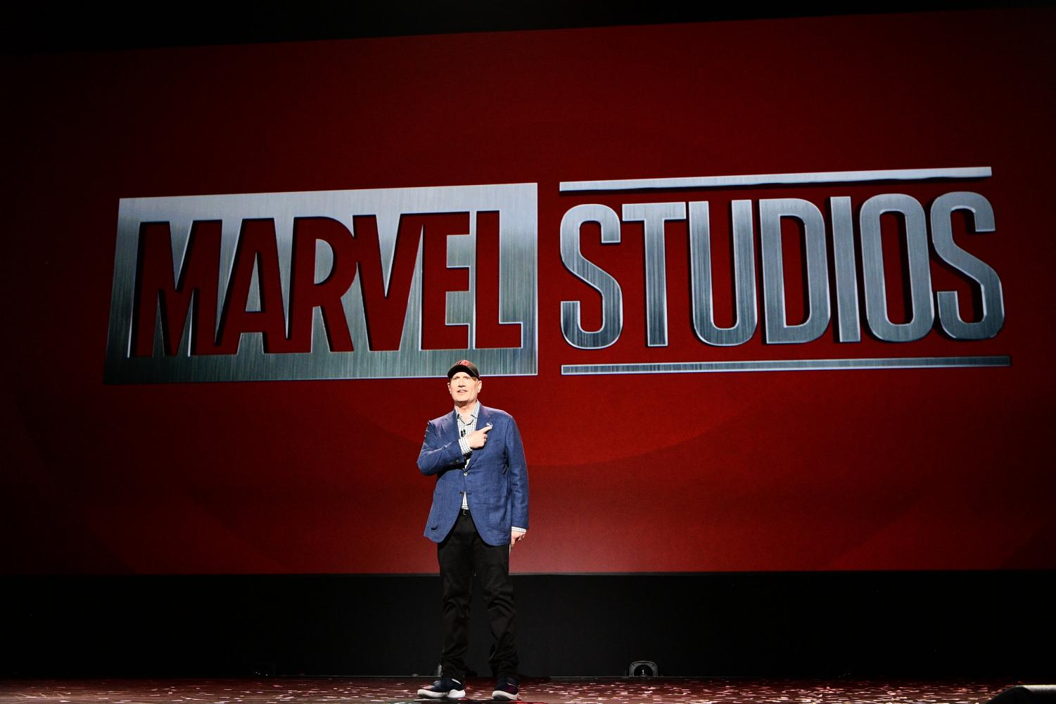 Marvel Studios President Kevin Feige takes the stage to announce details to Phase 4 of the MCU. Photo courtesy of D23.